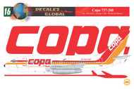 1/144 Scale Decal Copa 737-200