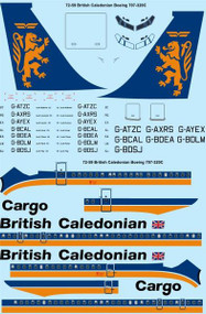 1/72 Scale Decal British Caledonian 1980s Boeing 707-320C