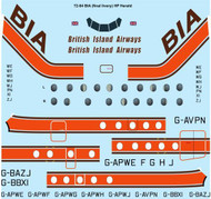 1/72 Scale Decal BIA British Island Airways HP Herald
