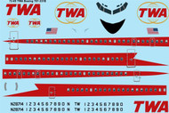 1/72 Scale Decal TWA Boeing 707-331B