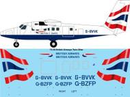 1/72 Scale Decal British Airways Twin Otter