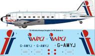 1/72 Scale Decal Intra Airways Douglas C-47B / DC-3