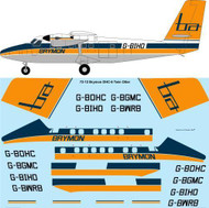 1/72 Scale Decal Brymon Airways DHC-6 Twin Otter