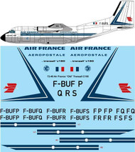 "1/72 Scale Decal Air France ""Early"" Transall C160"