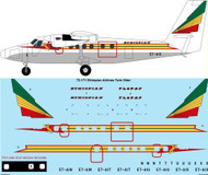 1/72 Scale Decal Ethiopian Airlines Twin Otter