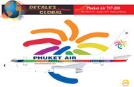 1/144 Scale Decal Phuket 737-200