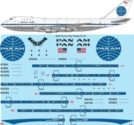 1/100 Scale Decal Pan Am Delivery Boeing 747-121