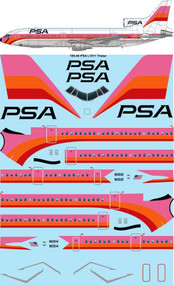 1/100 Scale Decal PSA Lockheed L1011 TriStar