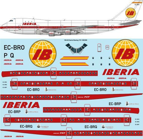 1/100 Scale Decal Iberia Boeing 747-256