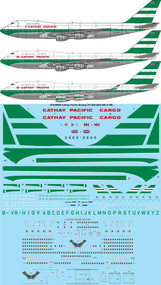 1/200 Scale Decal Cathay Pacific Boeing 747-200, 300, 400