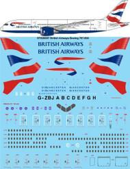 1/200 Scale Decal British Airways Boeing 787-836