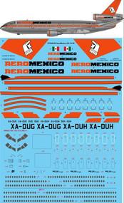 1/144 Scale Decal Aeromexico McDonnell Douglas DC-10-30