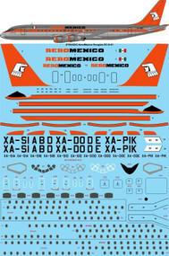 1/144 Scale Decal Aeromexico Douglas DC-8-51