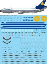 1/144 Scale Decal Lufthansa McDonnell Douglas DC-10-30