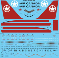 1/144 Scale Decal Air Canada L-1011Tristar
