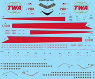 1/144 Scale Decal TWA Delivery L-1011 TriStar