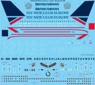 """1/144 Scale Decal British Airways """"Landor"""" Boeing 757-200"""