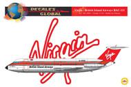1/144 Scale Decal Virgin / British Island Airways BAC-111