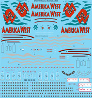 1/144 Scale Decal America West Airbus A320