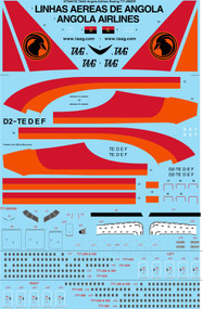 1/144 Scale Decal TAAG Angola Airlines Boeing 777-2M2ER