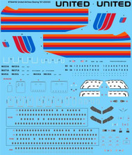 1/144 Scale Decal United Airlines Boeing 767-222/322