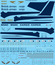 1/144 Scale Decal BOAC Boeing 707-300 / 400