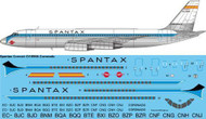 1/144 Scale Decal Spantax Convair CV990 Coronado