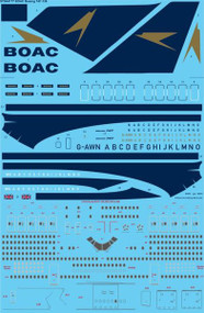 1/144 Scale Decal BOAC Boeing 747-136