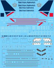 """1/144 Scale Decal British Airways """"Landor"""" Boeing 767-200 & 300"""