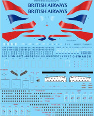 1/144 Scale Decal British Airways Boeing 777-200 & 300