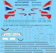 1/144 Scale Decal British Airways Boeing 737-300,400 & 500