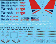1/144 Scale Decal British Airways & British Airtours Boeing 707-300/400