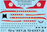 1/144 Scale Decal Aviogenex Tupolev TU-134A-3