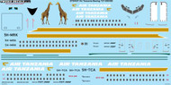 1/144 Scale Decal Air Tanzania Boeing 737-200/300
