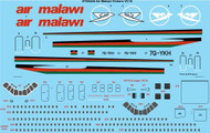 1/144 Scale Decal Air Malawi Vickers VC-10