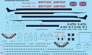 "1/144 Scale Decal British United ""Delivery"" Vickers VC10"