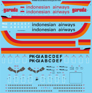 1/144 Scale Decal Garuda Indonesian McDonnell Douglas DC-10-30