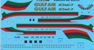 "1/144 Scale Decal Gulf Air ""Early"" Vickers VC10"