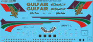"1/144 Scale Decal Gulf Air ""Late"" Vickers VC10"