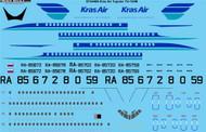 1/144 Scale Decal Kras Air Tupolev TU-154M