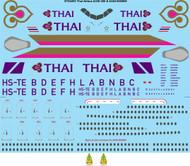 1/144 Scale Decal Thai Airbus A330-300 & A340-500/600
