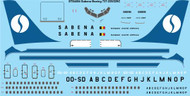 1/144 Scale Decal Sabena Boeing 737-229/229C