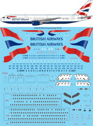 1/144 Scale Decal British Airways Boeing 767-336ER