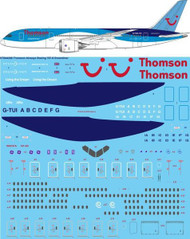 1/144 Scale Decal Thomson Airways Boeing 787-8 Dreamliner
