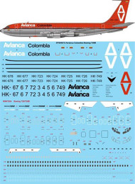 1/144 Scale Decal Avianca Colombia Boeing 720B