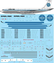 1/144 Scale Decal Pan Am late Boeing 707-321B/C