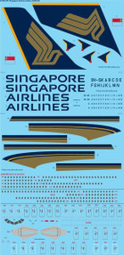 1/144 Scale Decal Singapore Airlines Airbus A380-841