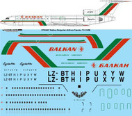 1/144 Scale Decal Balkan Bulgarian Airlines Tupolev Tu-154M