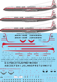 "1/144 Scale Decal Dan Air London ""Delivery"" DH Comet 4, 4B, 4C"