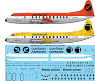 1/144 Scale Decal Cambrian / Northeast Vickers Viscount 800